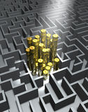 Labyrinth and money Royalty Free Stock Image