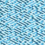Labyrinth (nahtlose vektortapete) Stockbilder