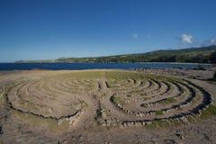 Labyrinth near Dragon's Teeth on the west coast of  Maui, Hawaii Stock Images