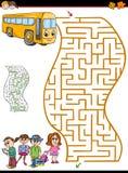 Labyrinth- oder Labyrinthtätigkeit für Kinder Stockbilder