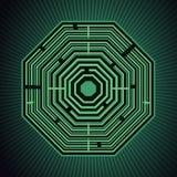 Labyrinth. Over green burst Royalty Free Stock Photo