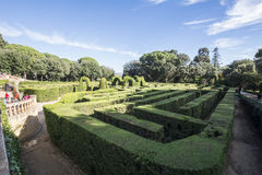 Labyrinth Park of Horta, Barcelona, Spain Stock Photo