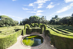 Labyrinth Park of Horta, Barcelona, Spain Stock Photography