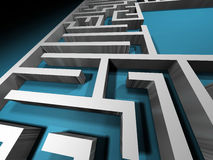 Labyrinth path. Abstract maze Stock Images