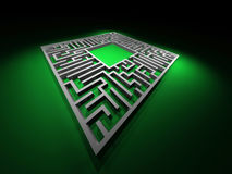 Labyrinth path. Abstract maze Royalty Free Stock Photo