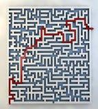 Labyrinth path arrow Royalty Free Stock Photography