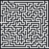 Labyrinth pattern. Profile, search rebus Royalty Free Stock Photos