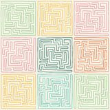 Labyrinth pattern Stock Photo