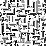 Labyrinth pattern Stock Photography