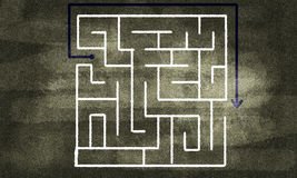 Labyrinth pattern Stock Photos
