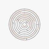 Labyrinth pattern with path to exit Royalty Free Stock Photography