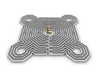 Labyrinth pound Stock Photo