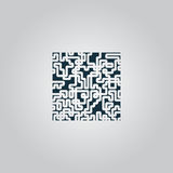 Labyrinth Puzzle rebus icon Stock Image
