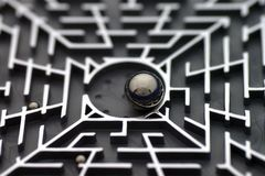 Labyrinth-Puzzlespiel Stockfoto