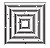 Labyrinth-Puzzlespiel-Abbildung Stockbilder