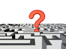 Labyrinth Question Royalty Free Stock Images