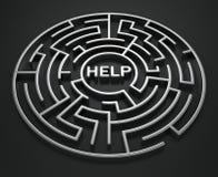 Labyrinth - Recherche nach Hilfe Lizenzfreie Stockfotos