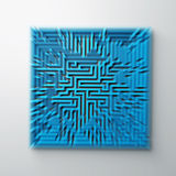 Labyrinth. Rendering of a blue labyrinth Stock Image