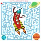 Labyrinth. Rocket Royalty Free Stock Photography