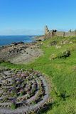 Labyrinth and ruined castle Dunure, South Ayrshire Royalty Free Stock Photo