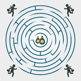 Labyrinth - running for money - business chart template Royalty Free Stock Images