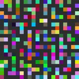 Labyrinth seamless pattern. Black lines multicolored squares. Vector Royalty Free Stock Image