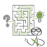 Labyrinth and  Solution Royalty Free Stock Photography