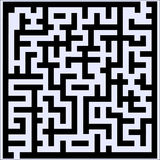 Labyrinth with some wrong ways and one exit Stock Photography