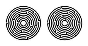 Labyrinth, Spiel, Unterhaltung lizenzfreie abbildung
