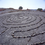 Labyrinth spiral Royalty Free Stock Images