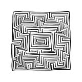 Labyrinth square, sketch for your design Royalty Free Stock Photos