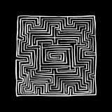 Labyrinth square, sketch for your design. Vector illustration Royalty Free Stock Photography