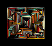 Labyrinth square, sketch for your design. Vector illustration Stock Photography
