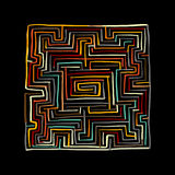 Labyrinth square, sketch for your design. Vector illustration Royalty Free Stock Images
