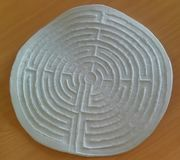 Labyrinth on Table Top View Royalty Free Stock Image