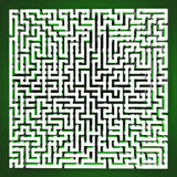 Labyrinth tangle perspective upper view Royalty Free Stock Images
