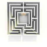 Labyrinth top view Stock Photography