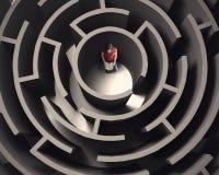 Labyrinth und Buch Lizenzfreie Stockfotografie