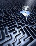 Labyrinth und Diamant Lizenzfreie Stockfotografie