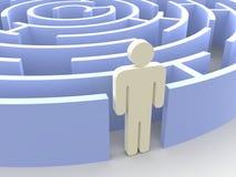 Labyrinth und Mann Lizenzfreie Stockfotografie