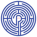 Labyrinth vector Royalty Free Stock Image