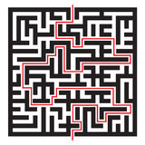 Labyrinth. Vector illustration of maze / labyrinth. Isolated on white background Royalty Free Stock Photo
