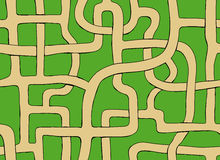Labyrinth. Vector seamless labyrinth. Drawn endless road Royalty Free Stock Images