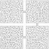 Labyrinth Vicissitudes of life. Combining labyrinths similar circuit in an infinite chain. Vector illustration Stock Photos