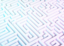 Labyrinth in white, blue and purple colors. stock illustration