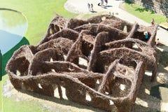 Labyrinth am Yard des Schlosses der Herzöge, Nantes Stockfoto