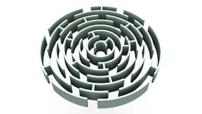 Labyrinth zoom. 3d Royalty Free Stock Photos