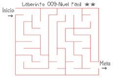 Labyrinth, zum einfaches zu lösen lizenzfreies stockbild