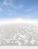 Labyrinth zur Unbegrenztheit Stockfotos