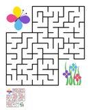 Labyrinthe, énigme de labyrinthe pour des enfants Photographie stock libre de droits